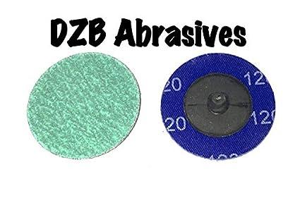 """2/"""" 36 Grit Zirconia+Grind Aid Quick Change Sanding Discs Type R Roloc 100 Pack"""