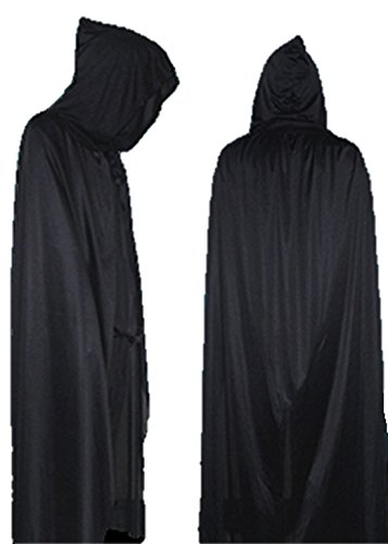 Fog Machine Hire (ShonanCos Hooded Cloak Devils Party Dress Vampire Cape God of Death Costume (L (5' 11