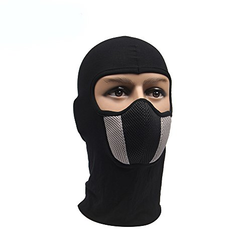 gangnumskythaii Hood Motorcycle Ski Mask Cycling Riding Training Snowboard Motorcycle Face Mask Outdoor Motorcycle Helmet Hood Ski Sport Neck (Daft Punk Skeleton Costume)