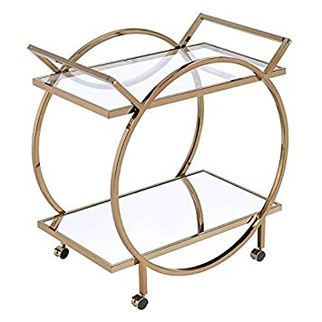 ACME Furniture Serving Cart, Champagne