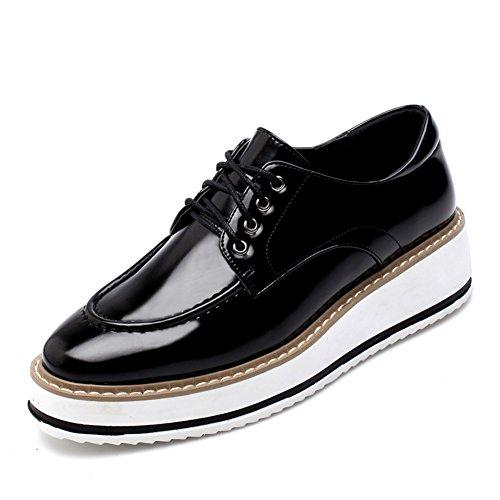 2016Inglaterra zapatos de primavera/los zapatos de fondo grueso/pendiente del cordón con los zapatos de plataforma/En los zapatos casuales A