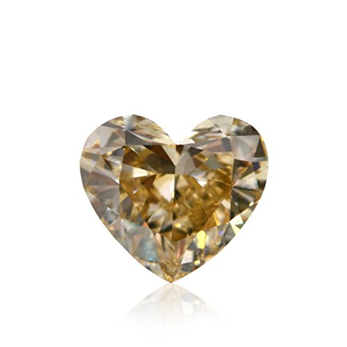 1.07 CT Heart YELLOW Brown Fancy Loose Diamond! GIA ()