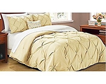 Cathay Home Oasis Pintuck Comforter Set, King, Taupe