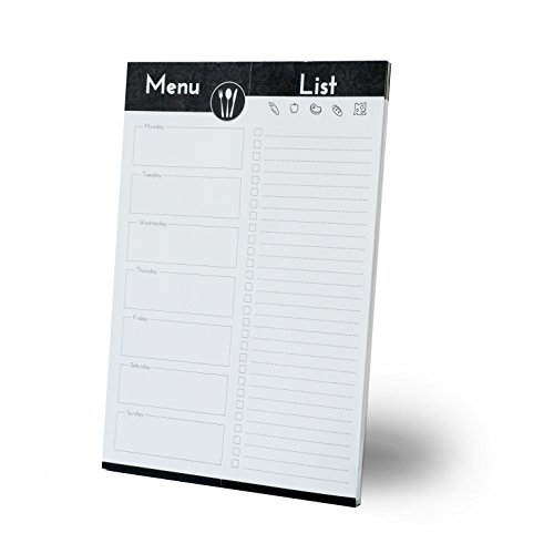 (Home Advantage Weekly Meal Planner with Tear Off Grocery Shopping List Magnetic Notepad - (White) Made in the U.S.A.)