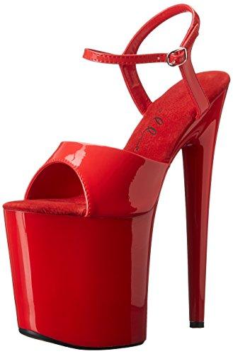 Ellie Shoes Women's 850 Juliet Platform Sandal, Red, 7 M US (Dancer Platform)