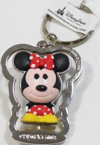 Disney Parks Minnie Mouse Rubber Spinning Key Chain (comes sealed) - Disney Parks Exclusive & Limited Availability ()