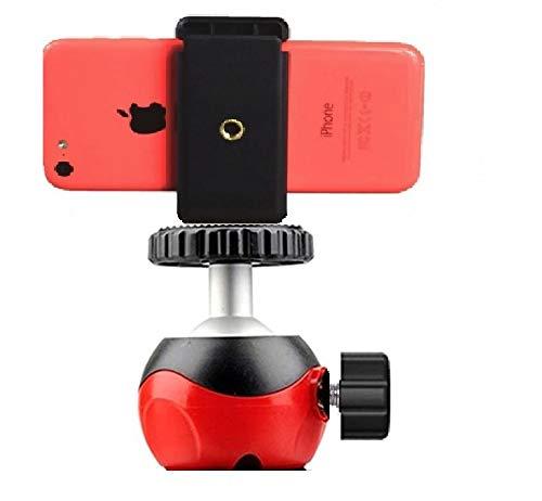 SUBTON Heavy Duty Ball Head Swivel Mount with 360 Rotation for Tripod Stand (Heavy Ball Head with Phone Holder)