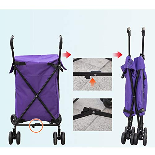 Hotel cart, Three-Second Folding Towel Storage Box Hotel Room Service car Hair Trolley (Color : A) by HT trolley (Image #3)