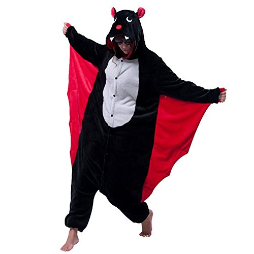 AooToo Womens Costumes Onesie Halloween Unisex Role Play Flannel Animal Pajamas(BFU, -