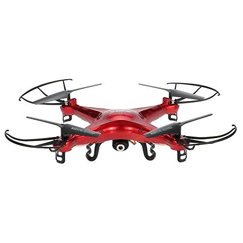Cheap Syma X5C Drone with 2.0MP HD Camera RC Quadcopter with 3D Flips & High/Low Speed & Left/Right Mode Exclusive Red Color