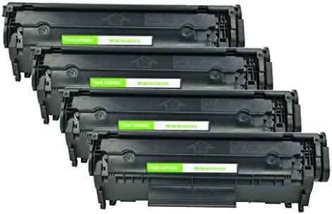 nineleaf 4pk Q2612 A negro cartucho de tóner para impresora HP ...