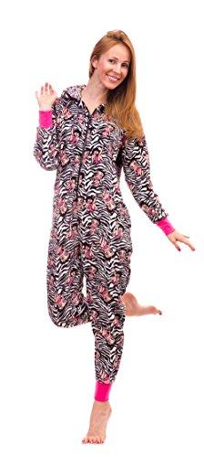 Betty Boop Women's Warm and Cozy Plush Onesie Pajama (Small, Zebra) Betty Boop Pajamas