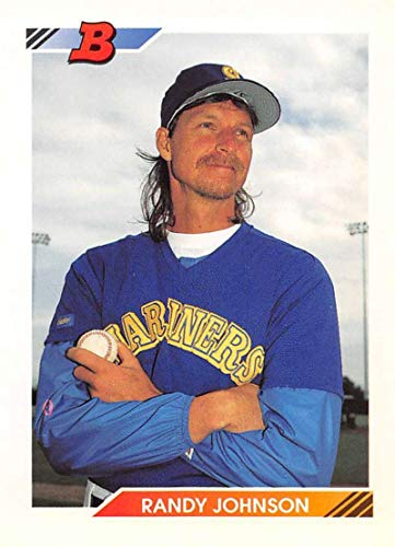 1992 Bowman Baseball #178 Randy Johnson Seattle Mariners Official MLB Trading Card from Topps