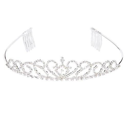 WINOMO Wedding Bridal Tiara Crystal Rhinestone Hairband Crown - Crystal Tiara