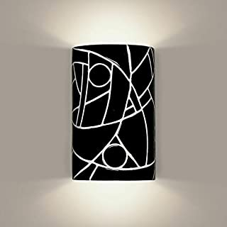 product image for A19 Picasso Wall Sconce, 4-Inch by 6-Inch by 9.5-Inch, Black