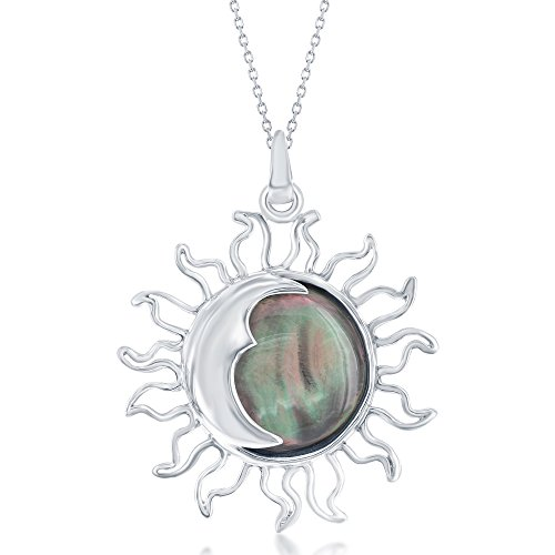 Polish Natural Abalone Shell Sun and Moon Solar Eclipse 18