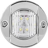 LED Stern Light, 12V Marine Boat Light Stainless Steel Waterproof LED Anchor Stern Navigation Light
