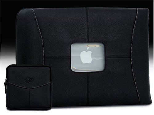 MacCase Premium Leather Sleeve Set - Black