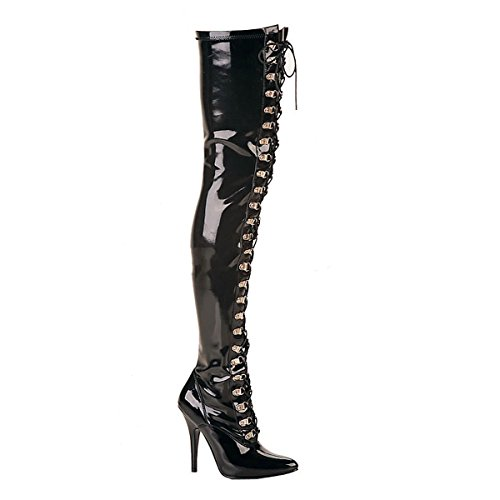 Pleaser Seduce-3024 - Sexy High Heels Overknee Stiefel 36-48, Größe:EU-45 / US-14 / UK-11