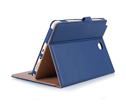 ProCase Samsung Galaxy Tab A 8.0 Case, Standing Cover Folio Case for 2015 Galaxy Tab A Tablet (8.0 Inch, SM-T350 P350), with Multiple Viewing Angles, Document Card Pocket - Navy