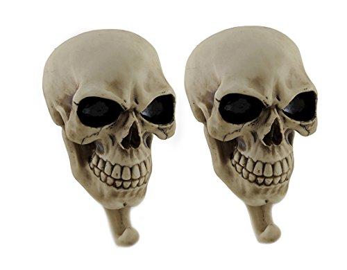 2-Piece-Creepy-Sinister-Skull-Wall-Hook-Set