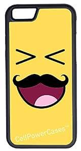 iPhone 6 Case, CellPowerCasesTM Smiley Mustache -\xa0iPhone 6 Plus (5.5) Black Case [iPhone 6 (5.5) V1 Black]