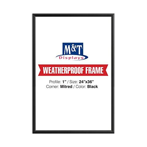 """Weatherproof Frame, 24X36 Poster Size, 1"""" Black Color Profil"""