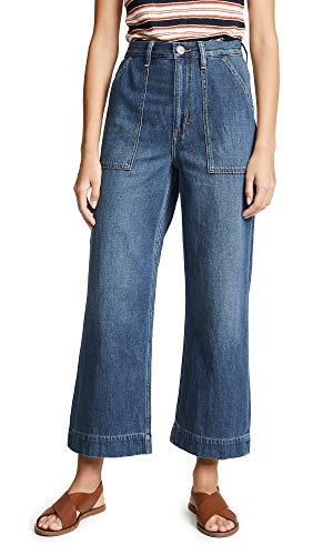Wrangler Women's Utility Cropped Jeans, Dark Blue, 27