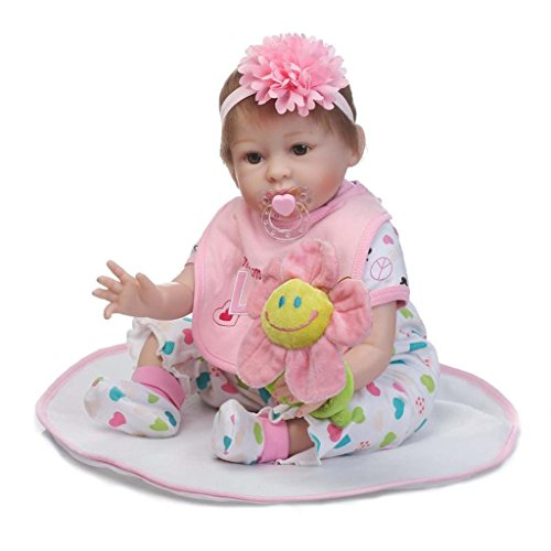 Be Sweet Mohair (Terabithia 22inch My Little Sweetheart Happy as can be Newborn Baby Girl dolls Eyes Open Reborn Doll)