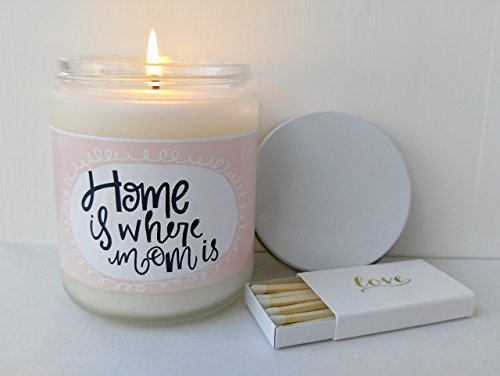 Gift For Mom Home Is Where Candle Gifts Mothers Day Mother Birthday Card Her