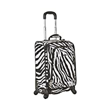 Rockland F181 Luggage Printed Spinner Carry On, Zebra, Medium, 20-Inch