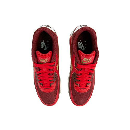 90 41 Max Air Nike Mens Red Trainers Gold EU Leather Essential atwH6zHq