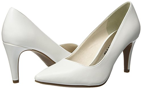Women''s Closed Pumps White white Tamaris 22447 Matt toe vOqxxpB