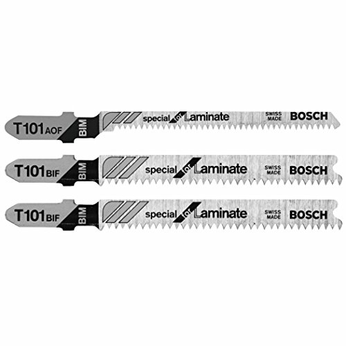 Bosch T503 3-Piece Hardwood/Laminate Flooring T-Shank Jig Saw Blade Set