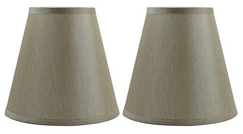 lk Empire Lamp Shade 5-inch by 9-inch by 8.5-inch, Set of 2, Cream (Cream Hardback Shade)