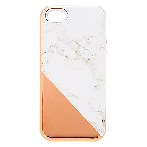 Claire's Girl's Rose Gold Marble Protective Phone Case