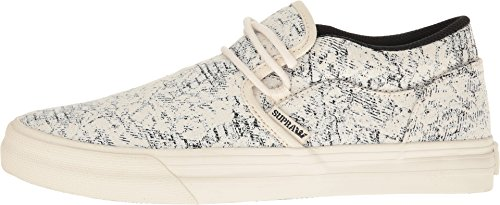 Supra Cuba Loafer White/Black/Woven HcFtIT5J