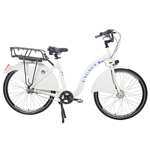 Swan City Cruiser Bicycle, 26 inch Wheels, Supernova Head and Tail Lights, 99% Assembled ()