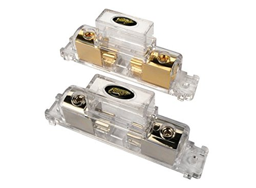 (Stinger SFB1MAX PRO Classic MAXI 4-Guage or 8-Gauge Input/Output Gold Fuse Holder )