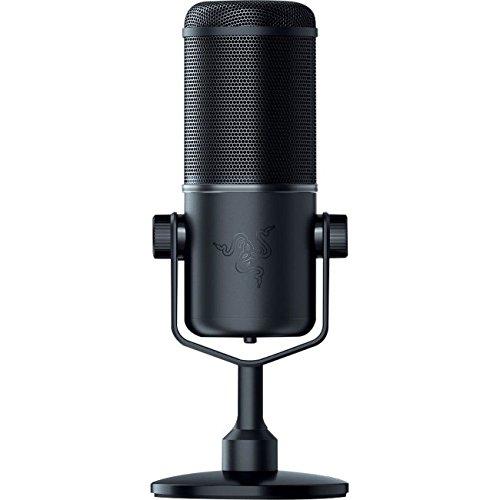 RAZER SEIREN ELITE: Single Dynamic Capsule - Built-In High-Pass Filter - Digital/Analog Limiter - Professional Grade Streaming Microphone