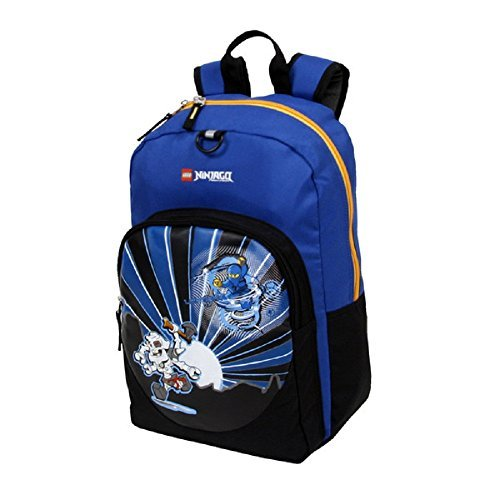 Dh Backpack (Boys Blue LEGO City Ninjago Lightning Backpack Fast Jay The Ninja Warrior Themed)