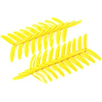 BangBang 10 Pairs Kingkong 5040 5x4x3 3-Blade Single Color CW CCW Propellers for FPV Racer (10 Pairs: Color Yellow)