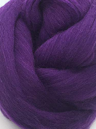 Purple Grape Wool Top Roving Fiber Spinning, Felting Crafts USA (1lb) by Shep's Wool (Image #5)