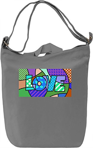 Pop Art Love Borsa Giornaliera Canvas Canvas Day Bag| 100% Premium Cotton Canvas| DTG Printing|