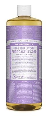 Dr. Bronner's Pure-Castile Liquid Soap, Lavender, 32 Fluid Ounce