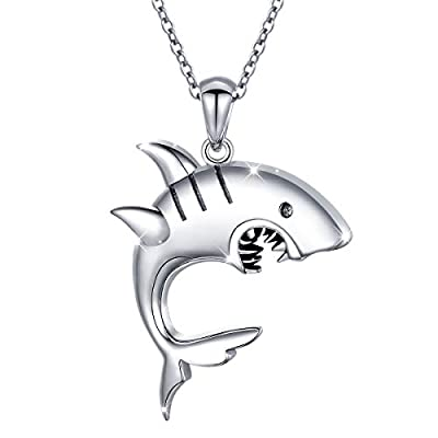 S925 Sterling Silver Elegant Ctue Animal Pendant Necklace for Women Teen Girl 18""