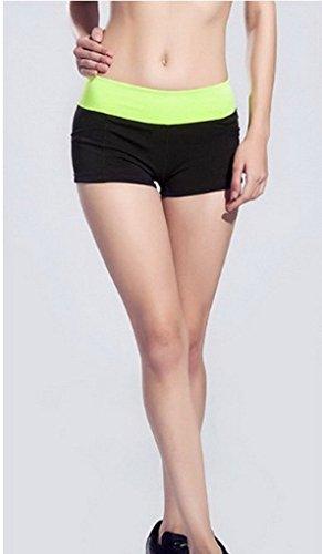 Sport Mini Yoga De Noir Et Confortable Les Ajustée Jaune Acme Musculation Shorts Femmes Filles Coupe Pour qtIwtCd