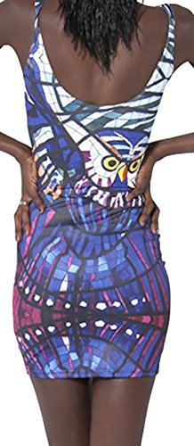 Sister Dress Camisole Printed 1 Bodycon Elastic Amy Owl Reversible Sleeveless Women's rFr8qfcW1
