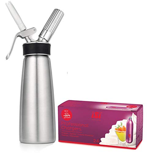 Bundled -ISI Cream Profi Whip PLUS (1 Pint ALL Stainless Steel) + 24 ISI Refill Cream Chargers