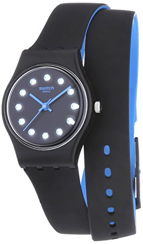 Swatch Black Nightview Ladies Watch LB179